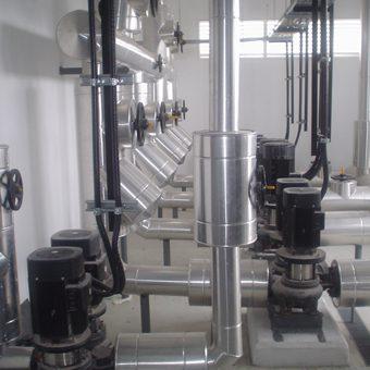Instalación y extracción de bombas, centrifugas horizontales-verticales.